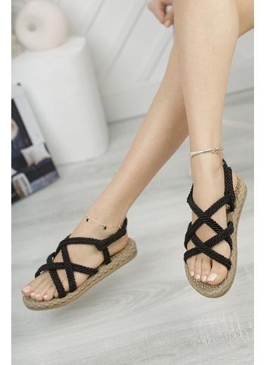 Muggo Sandalet Siyah